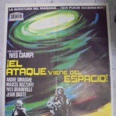Cine: CARTEL DE CINE ORIGINAL. ¡EL ATAQUE VIENE DEL ESPACIO!. 100X70 CM. Lote 80195929