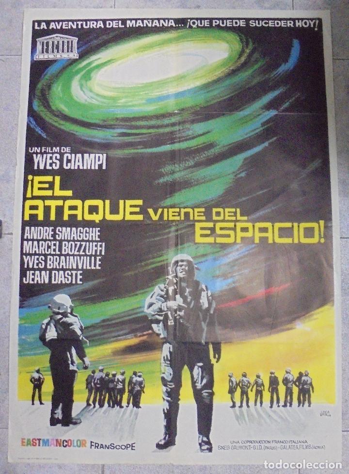 CARTEL DE CINE ORIGINAL. ¡EL ATAQUE VIENE DEL ESPACIO!. 100X70 CM (Cine - Posters y Carteles - Terror)