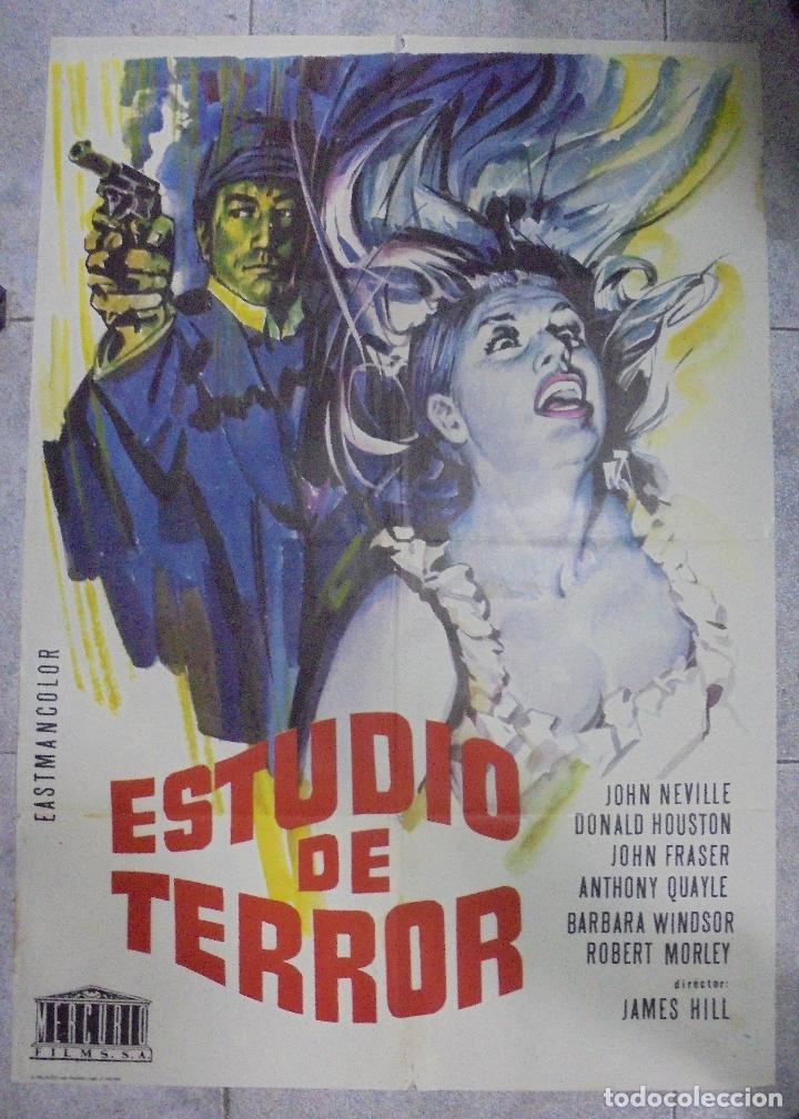 CARTEL DE CINE ORIGINAL. ESTUDIO DE TERROR. 100X70 CM (Cine - Posters y Carteles - Terror)