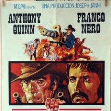 Cine: LOS AMIGOS. ANTHONNY QUINN-FRANCO NERO. CARTEL ORIGINAL 1973. 70X100. Lote 80216517