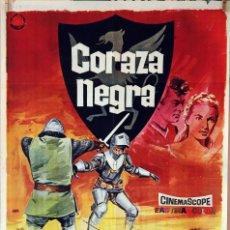 Cine: CORAZA NEGRA. TONY CURTIS-JANET LEIGH. CARTEL ORIGINAL 1967. 70X100. Lote 80227469