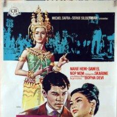 Cine: EL ÚLTIMO EDÉN. MARCEL CAMUS. CARTEL ORIGINAL 1963. 70X100. Lote 80274869