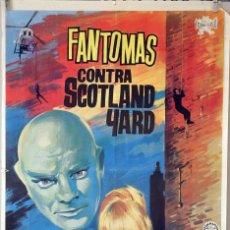 Cine: FANTOMAS CONTRA SCOTLAND YARD. LOUIS DE FUNES-JEAN MARAIS. CARTEL ORIGINAL 1967. 70X100. Lote 80276681
