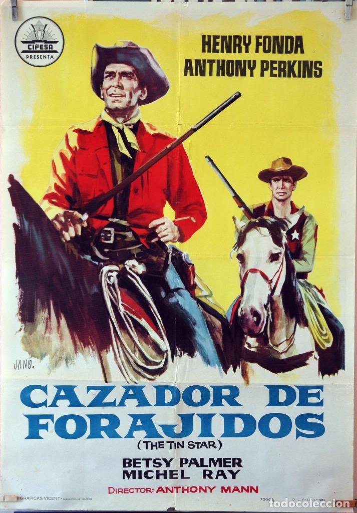 CAZADOR DE FORAJIDOS. HENRY FONDA ANTHONY PERKINS. CARTEL ORIGINAL 1961. 70X100 (Cine - Posters y Carteles - Westerns)