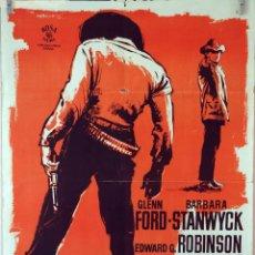 Cine: HOMBRES VIOLENTOS. GLENN FORD-EDWARD G. ROBINSON. CARTEL ORIGINAL 1964. 70X100. Lote 80277457