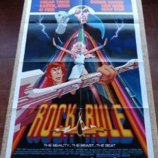 Cine: ROCK & RULE MOVIE POSTER, FOLDED, ORIGINAL, ONE SHEET, YEAR 1983, PRINTED IN USA. Lote 80313657