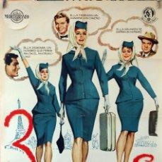 Cine: 3 AZAFATAS. KARL MALDEN. CARTEL ORIGINAL 1963. 70X100. Lote 80353357