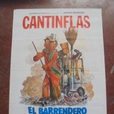 Cine: CARTEL DE CINE ORIGINAL. CANTINFLAS. EL BARRENDERO. 100X70CM. Lote 288718808