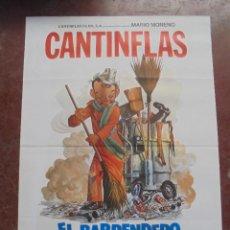 Cine: CARTEL DE CINE ORIGINAL. CANTINFLAS. EL BARRENDERO. 100X70CM. Lote 288718833