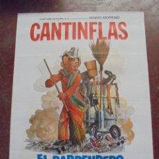 Cine: CARTEL DE CINE ORIGINAL. CANTINFLAS. EL BARRENDERO. 100X70CM. Lote 288718753