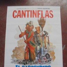 Cine: CARTEL DE CINE ORIGINAL. CANTINFLAS. EL BARRENDERO. 100X70CM. Lote 80426569