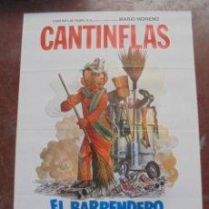 Cine: CARTEL DE CINE ORIGINAL. CANTINFLAS. EL BARRENDERO. 100X70CM. Lote 80426725