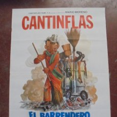 Cine: CARTEL DE CINE ORIGINAL. CANTINFLAS. EL BARRENDERO. 100X70CM. Lote 80426745