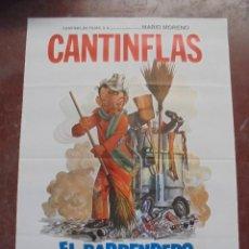 Cine: CARTEL DE CINE ORIGINAL. CANTINFLAS. EL BARRENDERO. 100X70CM. Lote 293956668