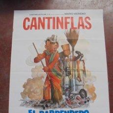Cine: CARTEL DE CINE ORIGINAL. CANTINFLAS. EL BARRENDERO. 100X70CM. Lote 288718778