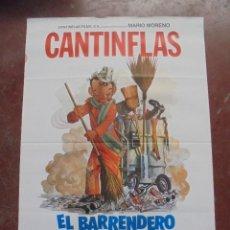 Cine: CARTEL DE CINE ORIGINAL. CANTINFLAS. EL BARRENDERO. 100X70CM. Lote 80426817