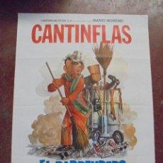 Cine: CARTEL DE CINE ORIGINAL. CANTINFLAS. EL BARRENDERO. 100X70CM. Lote 288718728