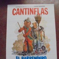 Cine: CARTEL DE CINE ORIGINAL. CANTINFLAS. EL BARRENDERO. 100X70CM. Lote 80426869