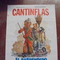 Cine: CARTEL DE CINE ORIGINAL. CANTINFLAS. EL BARRENDERO. 100X70CM. Lote 80426889