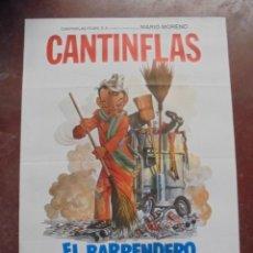 Cine: CARTEL DE CINE ORIGINAL. CANTINFLAS. EL BARRENDERO. 100X70CM. Lote 80426909