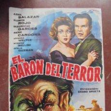 Cine: CARTEL DE CINE ORIGINAL. EL BARÓN DEL TERROR. 100 X 70 CM . 1965.. Lote 80433893