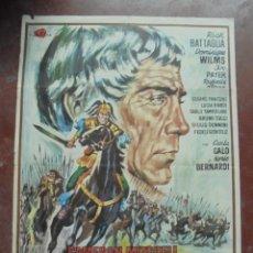 Cine: CARTEL DE CINE ORIGINAL. JULIO CESAR, EL CONQUISTADOR DE LAS GALIAS. 100X70CM. 1970. Lote 80436785