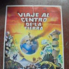 Cine: CARTEL DE CINE ORIGINAL. VIAJE AL CENTRO DE LA TIERRA. 100X70CM. 1970. Lote 80437037