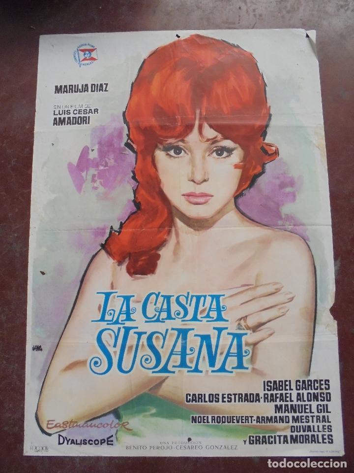 CARTEL DE CINE ORIGINAL. LA CASTA SUSANA. MARUJA DIAZ. 100 X 70 CM. 1963 (Cine - Posters y Carteles - Clasico Español)