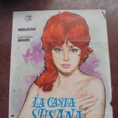 Cine: CARTEL DE CINE ORIGINAL. LA CASTA SUSANA. MARUJA DIAZ. 100 X 70 CM. 1963. Lote 80466901