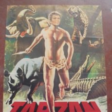 Cine: CARTEL DE CINE ORIGINAL. TARZAN. CONTRA LOS MERCADERES DE ESCLAVOS. 100X70 CM. 1973. Lote 80494377