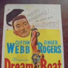Cine: CARTEL DE CINE ORIGINAL. DREAM BOAT. 100X70 CM. 1952. Lote 80500029