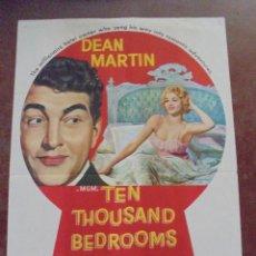 Cine: CARTEL DE CINE ORIGINAL. THEN THOUSAND BEDROOMS. 100X70 CM. 1957. Lote 80500661