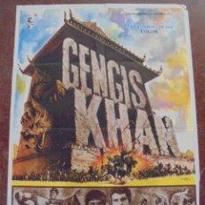 Cine: CARTEL DE CINE ORIGINAL. GENGIS KHAN. 100X70 CM. 1966. Lote 80501881