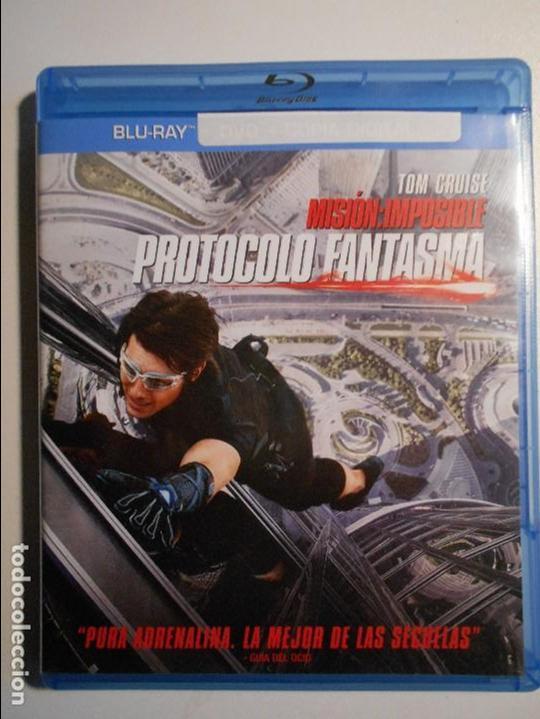 MISION: IMPOSIBLE. PROTOCOLO FANTASMA. BLURAY DE LA PELICULA DE TOM CRUISE. (Cine - Posters y Carteles - Suspense)