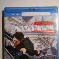 Cine: MISION: IMPOSIBLE. PROTOCOLO FANTASMA. BLURAY DE LA PELICULA DE TOM CRUISE.. Lote 80502321