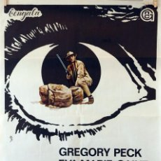Cine: LA NOCHE DE LOS GIGANTES. GREGORY PECK-EVA MARIE SAINT. CARTEL ORIGINAL 1969. 70X100. Lote 80516469