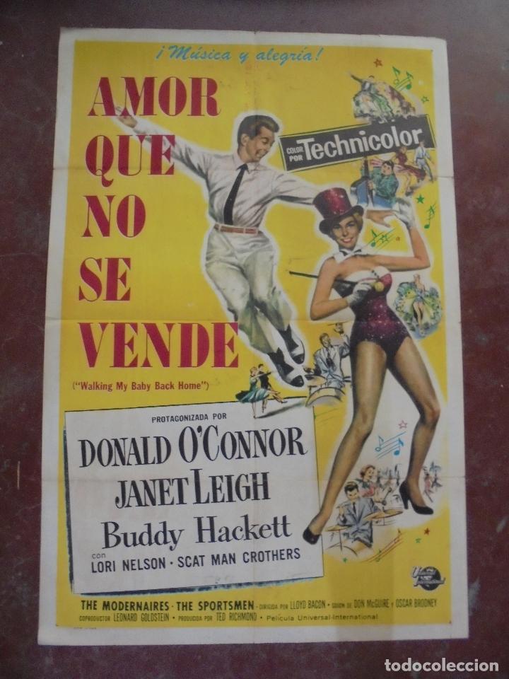 CARTEL DE CINE ORIGINAL. AMOR QUE NO SE VENDE. 100X70 CM. (Cine - Posters y Carteles - Musicales)