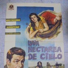 Cine: CARTEL DE CINE ORIGINAL. UNA HECTAREA DE CIELO. 1960. 99 X 67 CM. Lote 80544902