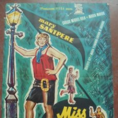 Cine: CARTEL DE CINE ORIGINAL. MISS CUPLÉ. MARY SANTPERE. 1959. 98 X 68 CM. Lote 80568482