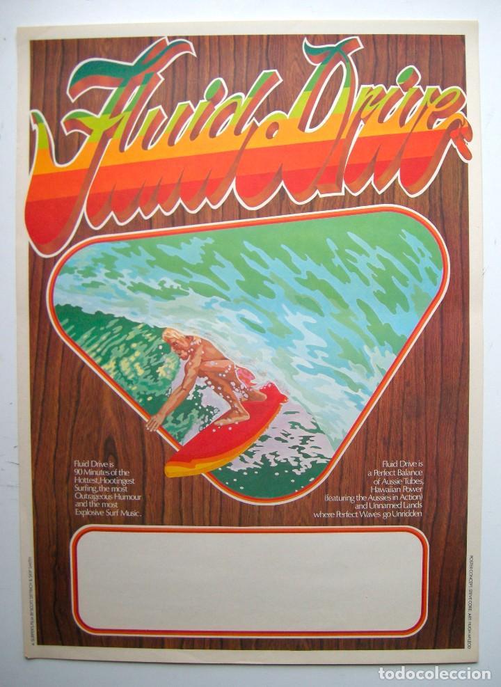 POSTER ORIGINAL AUSTRALIA / SURF / FLUID DIVE / SCOTT DITTRICH / 1974 / 45X63 CM (Cine - Posters y Carteles - Documentales)