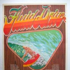 Cine: CARTEL ORIGINAL AUSTRALIA / 1974 / SURF / FLUID DIVE / SCOTT DITTRICH / 45X63 CM. Lote 80643174