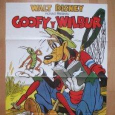 Cinema: CARTEL CINE, GOOFY Y WILBUR, WALT DISNEY, , C1022. Lote 80862139