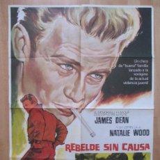 Cine: CARTEL CINE, CARTEL CINE, REBELDE SIN CAUSA, JAMES DEAN, NATALIE WOOD, 1975, MCP, C784A. Lote 80863383