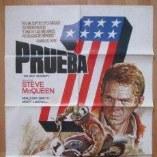 Cine: CARTEL CINE, PRUEBA 1, STEVE MCQUEEN, MALCOLM SMITH, MOTOS, MOTO, MAC, 1982, C1024. Lote 80864355