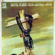 Cine: LA TUMBA DEL PISTOLERO. AMANDO DE OSORIO. CARTEL ORIGINAL 1964. 70X100. Lote 80954324