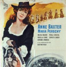 Cine: LAS 7 MAGNÍFICAS. ANNE BAXTER. CARTEL ORIGINAL 1966. 70X100. Lote 81015048