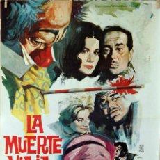 Cine: LA MUERTE VIAJA DEMASIADO. JOSÉ LUIS LÓPEZ VÁZQUEZ-ALIDA VALLI. CARTEL ORIGINAL 1966. 70X100. Lote 81015428