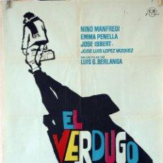 Cine: EL VERDUGO. LUIS GARCÍA BERLANGA. CARTEL ORIGINAL 1963. 70X100. Lote 81016692