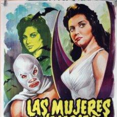 Cine: LAS MUJERES VAMPIRO. CARTEL ORIGINAL 1963. 70X100. Lote 81019720