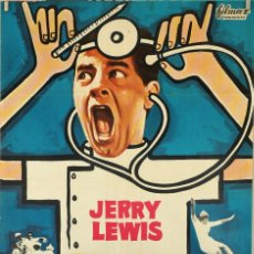 Cine: CASO CLÍNICO EN LA CLÍNICA. JERRY LEWIS. CARTEL ORIGINAL 1965. 70X100. Lote 81111044